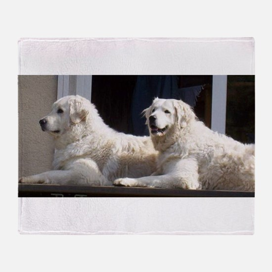 kuvasz group Throw Blanket