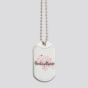 Horticulturist Artistic Job Design with B Dog Tags