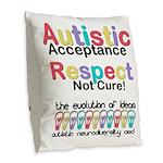 Autistic Acceptance Burlap Throw Pillow