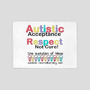 Autistic Acceptance 5'x7'Area Rug