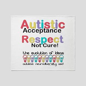 Autistic Acceptance Throw Blanket