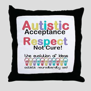 Autistic Acceptance Throw Pillow