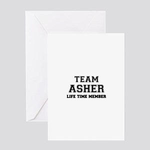 Team ASHER, life time member Greeting Cards