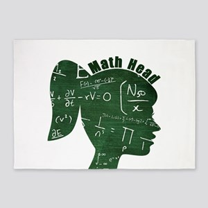 Math Head 5'x7'Area Rug