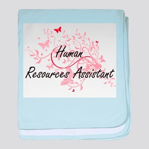 Human Resources Assistant Artistic Jo baby blanket