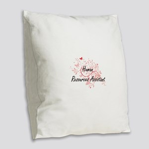 Human Resources Assistant Arti Burlap Throw Pillow