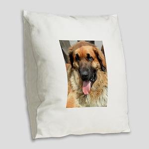 leonberger Burlap Throw Pillow