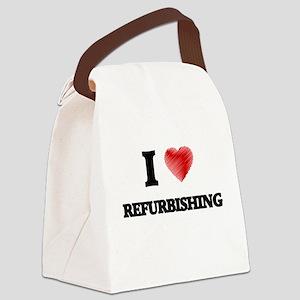 I Love Refurbishing Canvas Lunch Bag