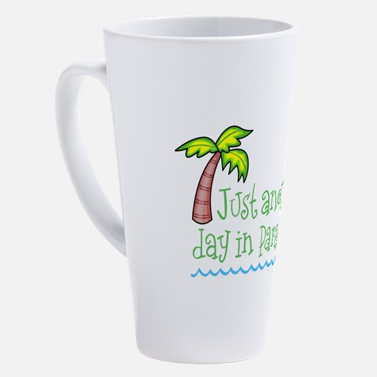 Unique Palm trees 17 oz Latte Mug