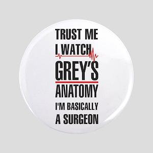 Greys Anatomy trust me black Button