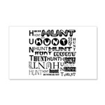 Hunt 20x12 Wall Decal