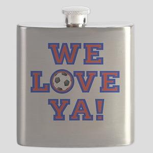 We Love Ya! USA Soccer Flask