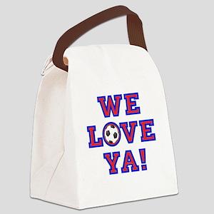 We Love Ya! USA Soccer Canvas Lunch Bag
