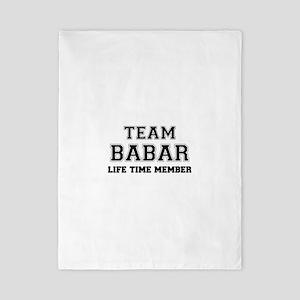 Team BABAR, life time member Twin Duvet