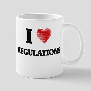 I Love Regulations Mugs