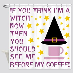 COFFEE WITCH Shower Curtain
