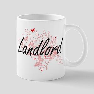 Landlord Artistic Job Design with Butterflies Mugs