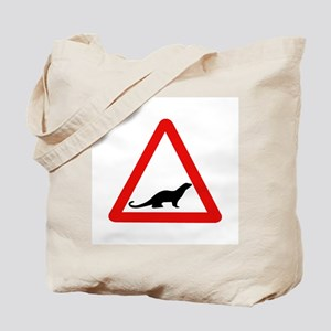 Caution Otters, UK Tote Bag