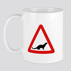 Caution Otters, UK Mug
