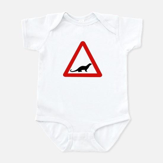 Caution Otters, UK Infant Bodysuit
