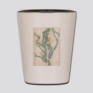Vintage Map of The Chesapeake Bay (1873 Shot Glass