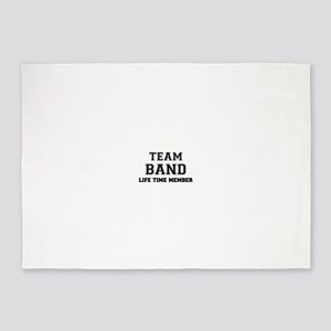 Team BAND, life time member 5'x7'Area Rug