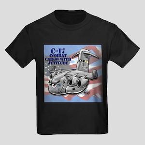 C-17 Globemaster III Kids Dark T-Shirt