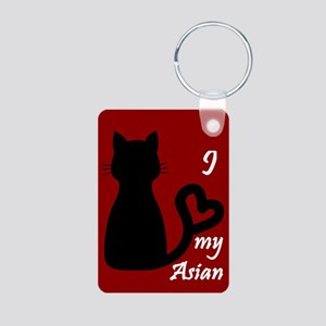 Asian Cat Heart Keychain Keychains