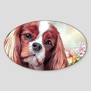Cavalier King Charles Spaniel Painting Sticker