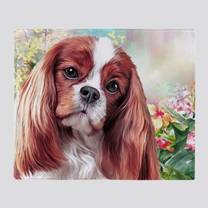 Cavalier King Charles Spaniel Painting Throw Blank