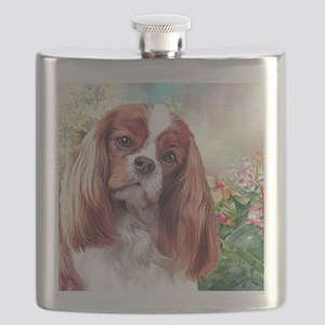 Cavalier King Charles Spaniel Painting Flask