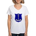 USS Norfolk (DL 1) Women's V-Neck T-Shirt