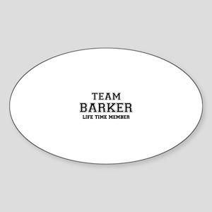 Team BARKER, life time member Sticker