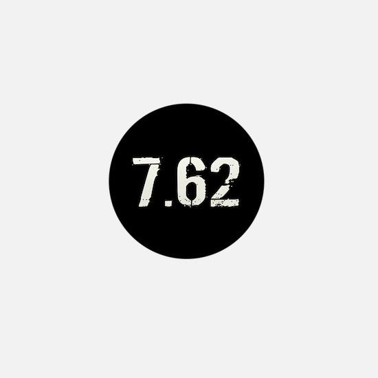 7.62 Ammo: Black & White Mini Button
