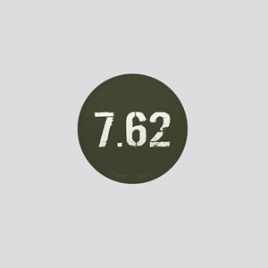 7.62 Ammo: Military Green Mini Button