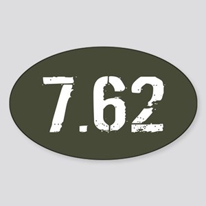 7.62 Ammo: Military Green Sticker (Oval)