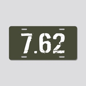 7.62 Ammo: Military Green Aluminum License Plate