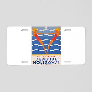 Vintage poster - Seaside ho Aluminum License Plate