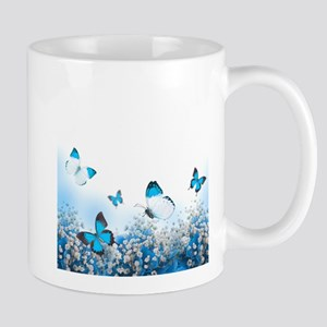 Flowers and Butterflies Mug
