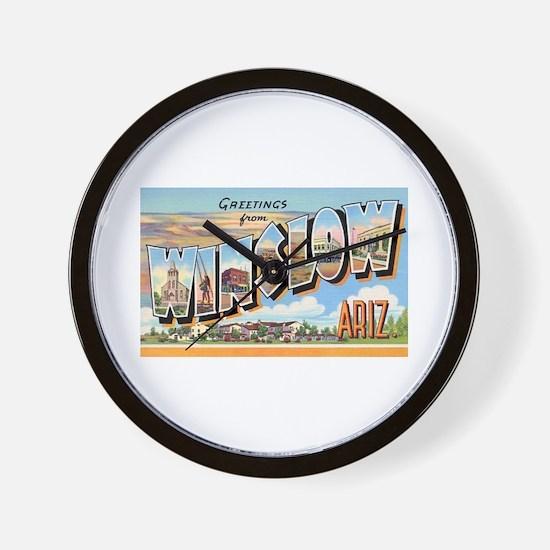Winslow Arizona Greetings Wall Clock
