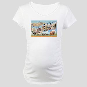 Winslow Arizona Greetings (Front) Maternity T-Shir