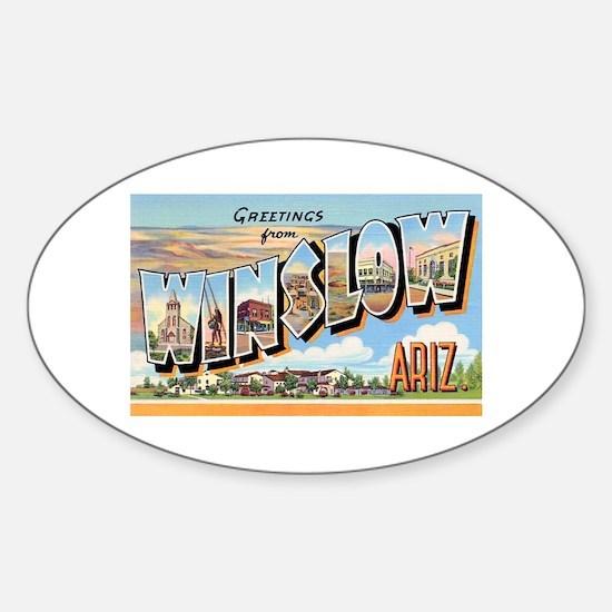 Winslow Arizona Greetings Oval Decal