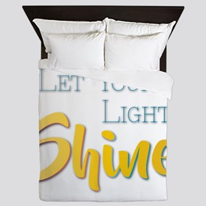 Let Your Light Shine Queen Duvet