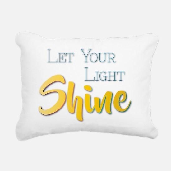 Let Your Light Shine Rectangular Canvas Pillow