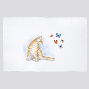 Cat 616 butterfly 4' x 6' Rug