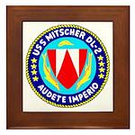 USS Mitscher (DL 2) Framed Tile
