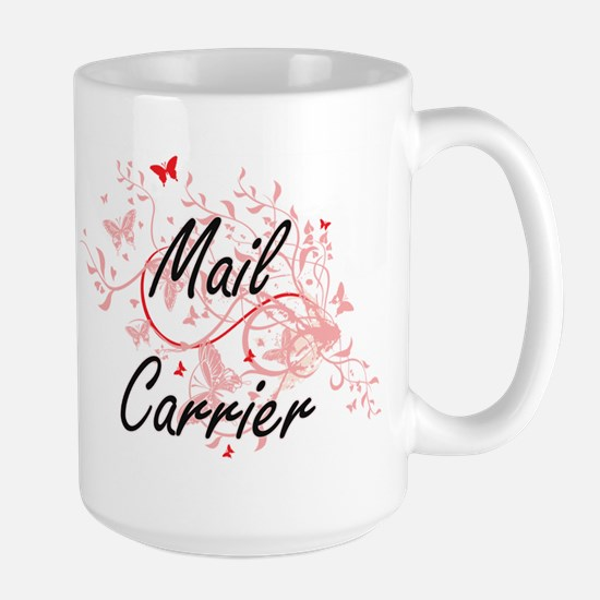 Mail Carrier Artistic Job Design with Butterf Mugs