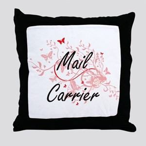 Mail Carrier Artistic Job Design with Throw Pillow