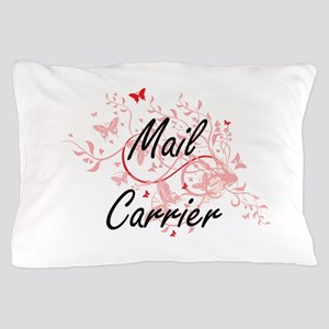 Mail Carrier Artistic Job Design with Pillow Case