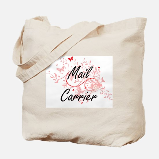 Mail Carrier Artistic Job Design with But Tote Bag